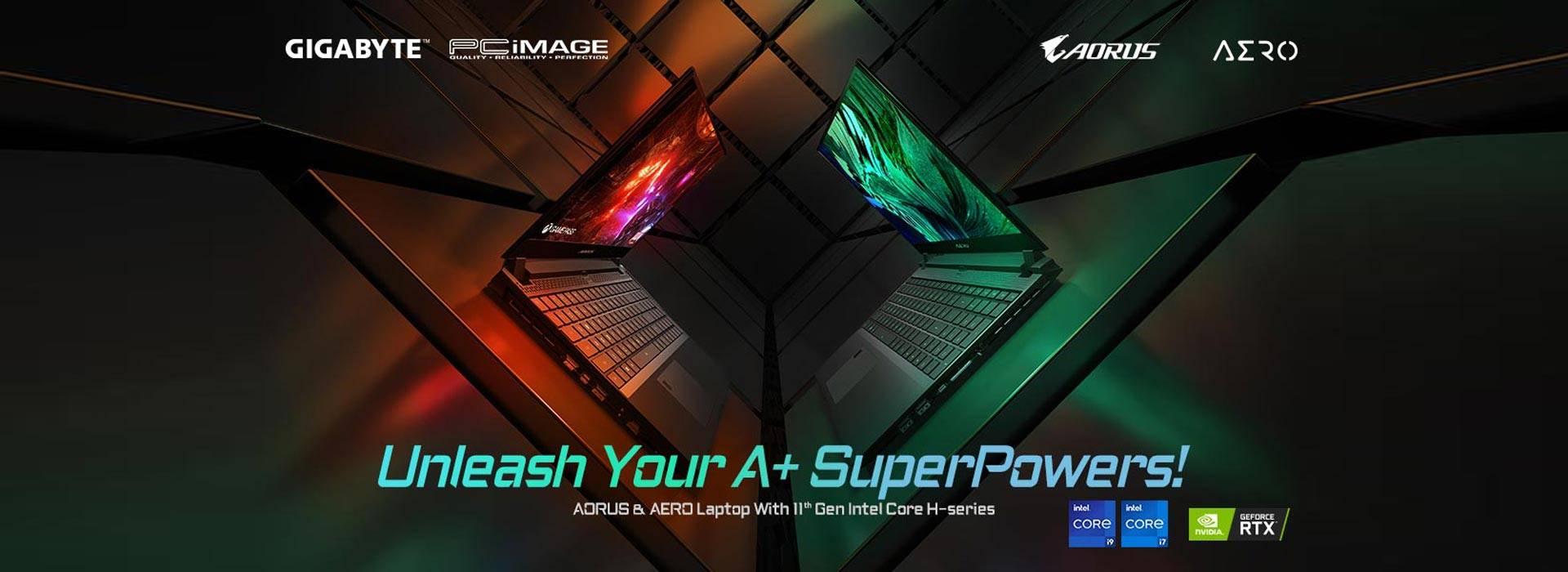 PRE-ORDER AERO & AORUS 11 GEN gaming laptops