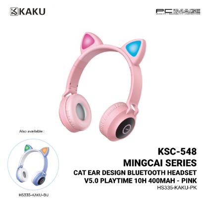 KAKU KSC-548 Mingcai Series Cat Ear Design Bluetooth Headset V5.0 Playtime 10H 400MAH