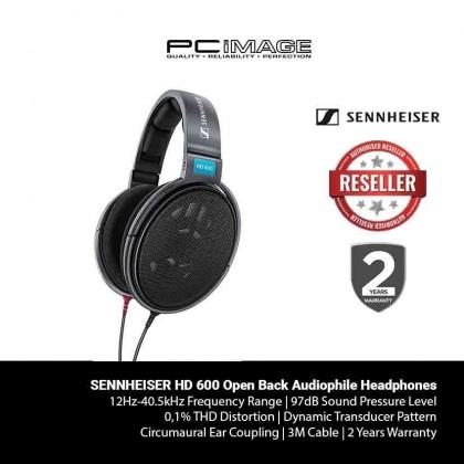 SENNHEISER HD 600 Open Back Audiophile Headphones - Black