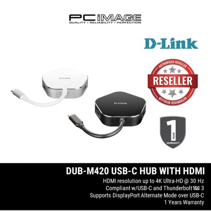 D-LINK DUB-M420 USB-C to HDMI & USB-C (Power Delivery & Data Sync) & 2 USB 3.0, 4 in 1