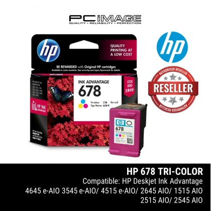 HP 678 Tri-colour Ink Cartridge  (CZ108AA)