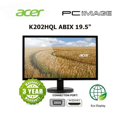 """ACER K202 19.5"""" 1366x768 5MS HDMI/VGA/TN 3YEAR WARRANTY"""
