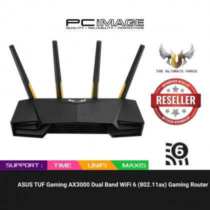 ASUS TUF Gaming AX3000 / TUF-AX3000 / TUF AX3000 Dual Band WiFi 6 (802.11ax) Gaming Router