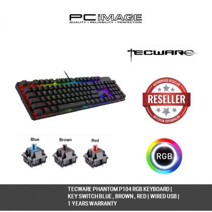 TECWARE PHANTOM 2020 RGB MECHANICAL GAMING KEYBOARD-BLUE / BROWN / RED SWITCH