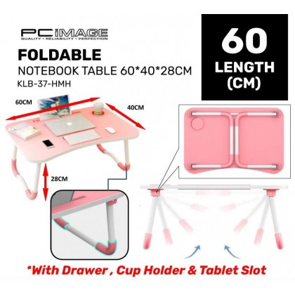 Foldable KLB-37 (60x40x28CM) with Cup Holder Notebook Table