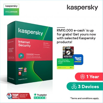KASPERSKY Internet Security 2021 (1 Device / 1 Year   3 Devices / 1 Year) License Key Only