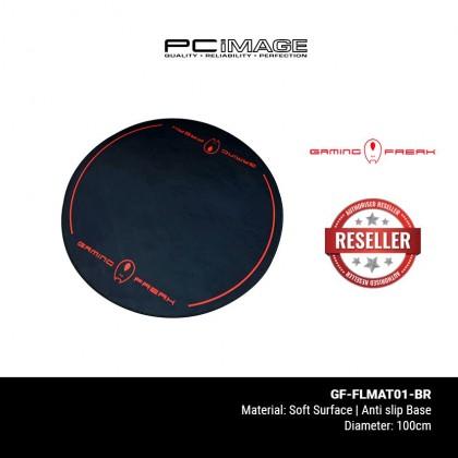 GAMING FREAK Gaming Chair Floor Mat - Black Red