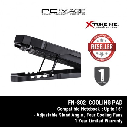 XTRIKE ME FN-802 4 Fan Cooler Pad Red Backlight